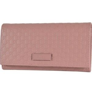 NWT Gucci Soft Pink Leather Bifold Wallet 449396